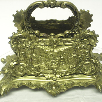 "Brass Letter Holder,Victorian Rococo style""late XIX Century - Office"