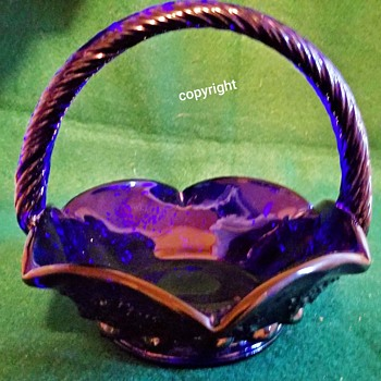 Pennsylvania Railroad Basket by WG - Glassware
