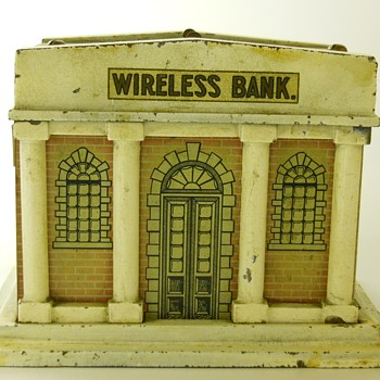 Mechanical Wireless Still Bank, Circa 1913-18  - Coin Operated