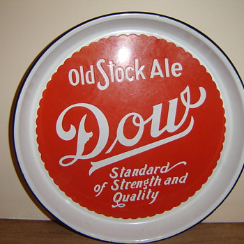 Dow Beer Porcelain Tray - Breweriana