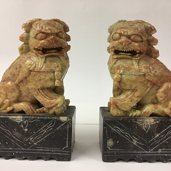 Pair of Foo Dogs Made In The People's Republic of China - Asian