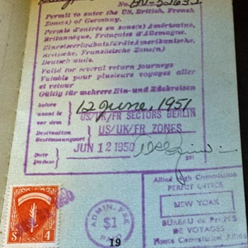 Post WW2 allied travel permit