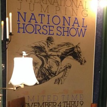 1980 National Horse Show Poster, Sam Savitt Art