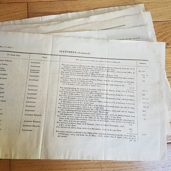1826 military documents - what are they?