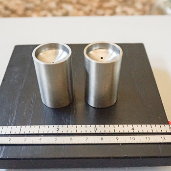 Miniature Stainless Steal Salt & Pepper Shakers