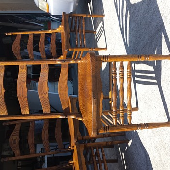 Ladder back side chairs
