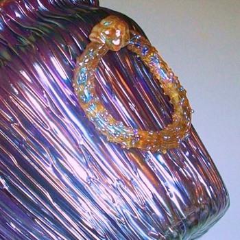 Loetz Purple Empire Vase - Art Glass