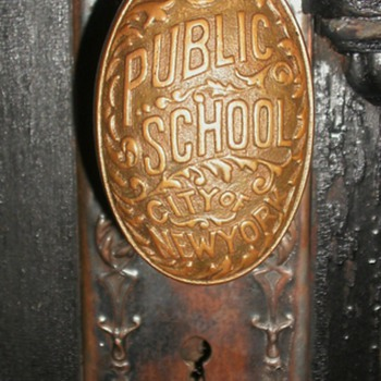 Vintage New York Public School Door Knob - Tools and Hardware