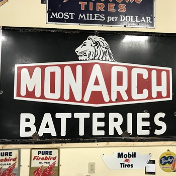 Super rare Monarch batterie sign  - Advertising