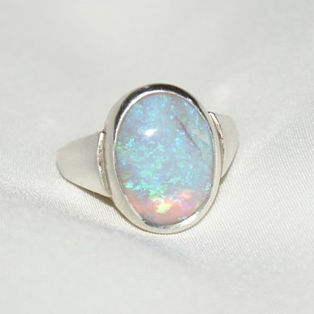 Unmarked Sterling and Opal Ring - Fine Jewelry