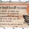 Union Trust Bank Cardboard Sign