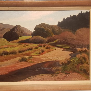 Ray Strong Landscape Oil Painting, dated 1956 - Fine Art