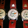 Three versions of 1951 Rexall Bugs Bunny Watches