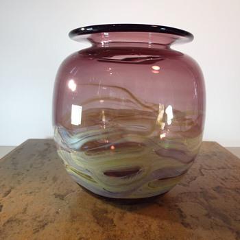 Tony Kuepher Vase - Art Glass