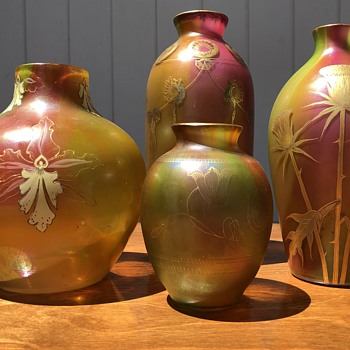 Harrach grouping - Art Glass