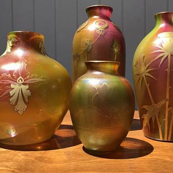 Harrach grouping - Art Glass
