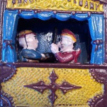 Punch & Judy Mechanical Bank - Coin Operated