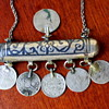 Antique Middle Eastern Prayer Box and Coin Necklace