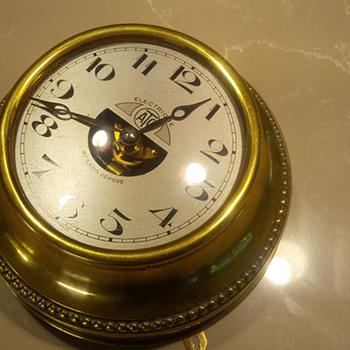 1926 Leon Hatot Round Bass Wall Clock - Clocks