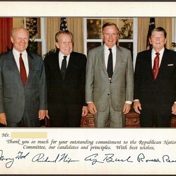 1990 - Republican Presidents Photograph - Photographs