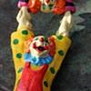 Painted Paper Mache Clown Acrobats
