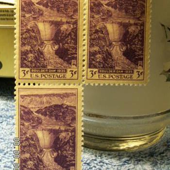 1935 Boulder Dam 3¢ Stamps - Stamps