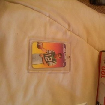 Joe namath card - Football