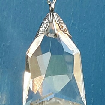 Silver? and Crystal? drop pendant - Fine Jewelry