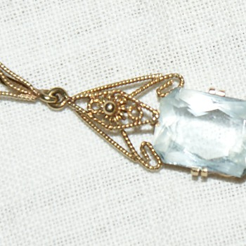 Aquamarine and Gold Pendant - Fine Jewelry