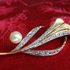 Vintage Sterling Pin with Natural Pearl