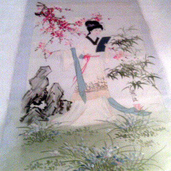 Asian Original  geisha? painting  - Asian