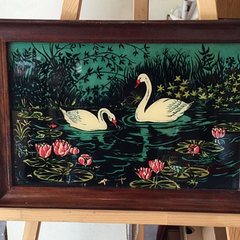 Appears to be a reverse Glass Painting vintage  - Fine Art