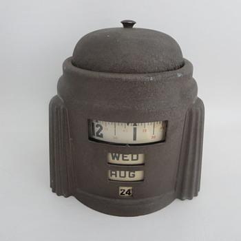 Tape Rotary Calendar Alarm Clock - Clocks