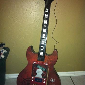 Budweiser Guitar Shaped CD Player/Radio - Breweriana