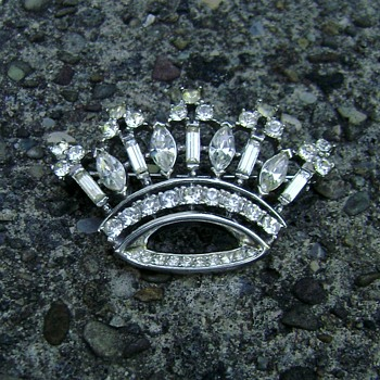 Trifari Crown Brooch - Costume Jewelry