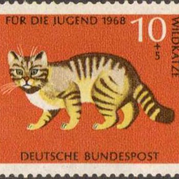 "1968 - W. Germany - ""Animals"" Postage Stamp Series"