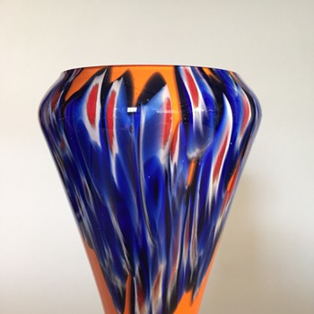 Kralik Millefiori over orange tango - Art Glass