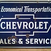 Chevrolet 1930's Porcelain Sign