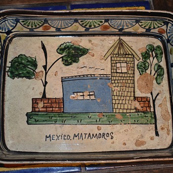 Large Platter from Matamoros - 1940s - Pottery
