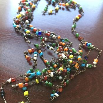 Late 1960's Love Beads - Costume Jewelry