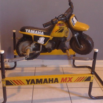 1980's Yamaha Flexible Flyer MX kids spring ride on rocking horse motorcycle - Toys