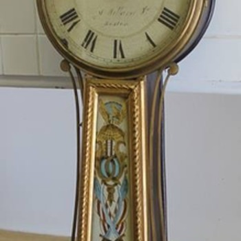 Antique Simon Willard Jr. Banjo Clock (1815-1830) - Clocks