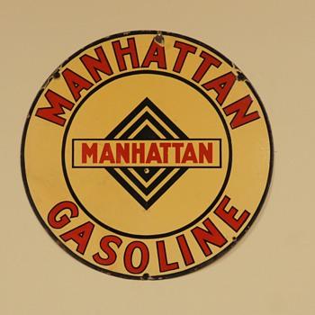 Manhattan Gasoline Sign - Signs