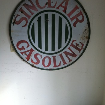 1920's Sinclair single sided porcelain - Petroliana