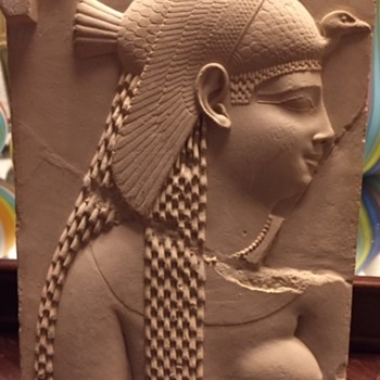 Molded Plaster? Egyptian Goddess - Fine Art