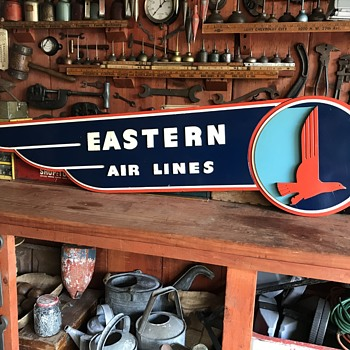 Vintage Eastern Airlines Sign - Advertising