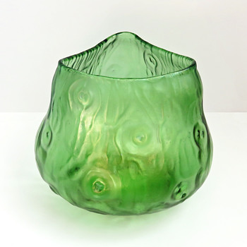 Loetz Triangular Rusticana Vase - Art Glass