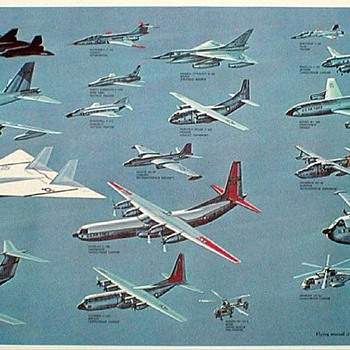 1965 - U.S. Air Force Aircraft Poster - Posters and Prints
