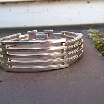 .835 Silver Bracelet, Flea Market Find $7.50 - Fine Jewelry