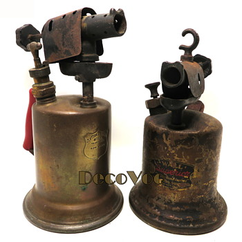 Brass Blow Torches 1930's Wall & Clayton & Lambert - Tools and Hardware